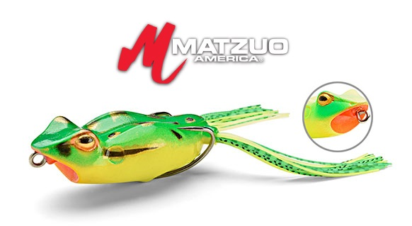 Matzuo soft body lures kroaker frog for Matzuo fishing rod