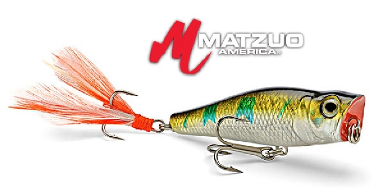Matzuo hard body lures nano popper for Matzuo fishing rod